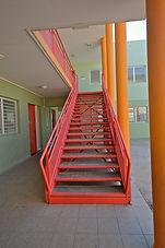 Escalier métallique rouge - Guadeloupe