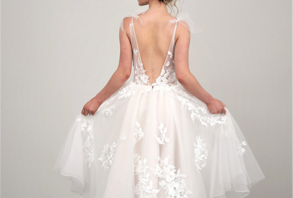 Roslyn Short Wedding Dress from French Knot Couture