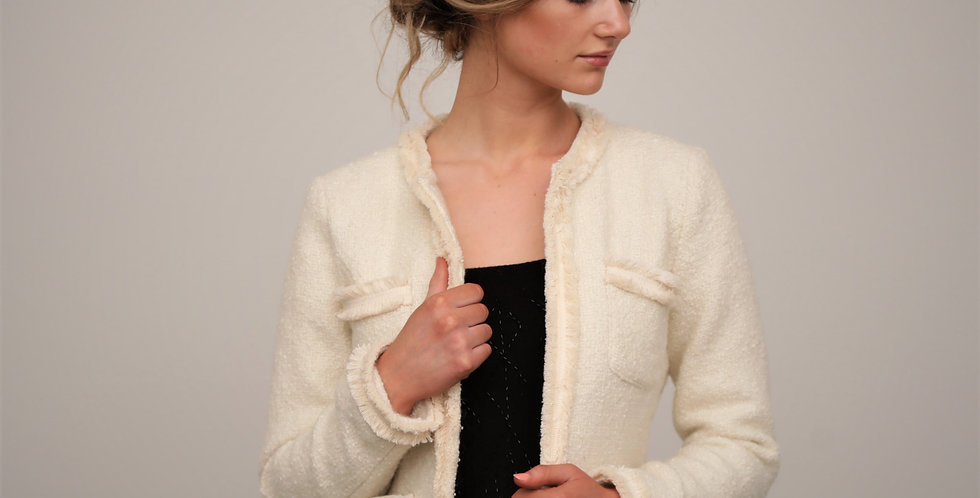 Lola Ivory Jacket from French Knot Couture