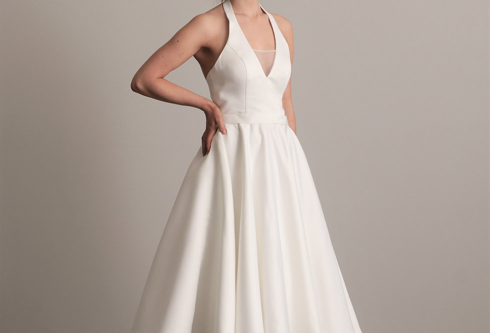 Chelan Tea Length Wedding Dress from French Knot Couture