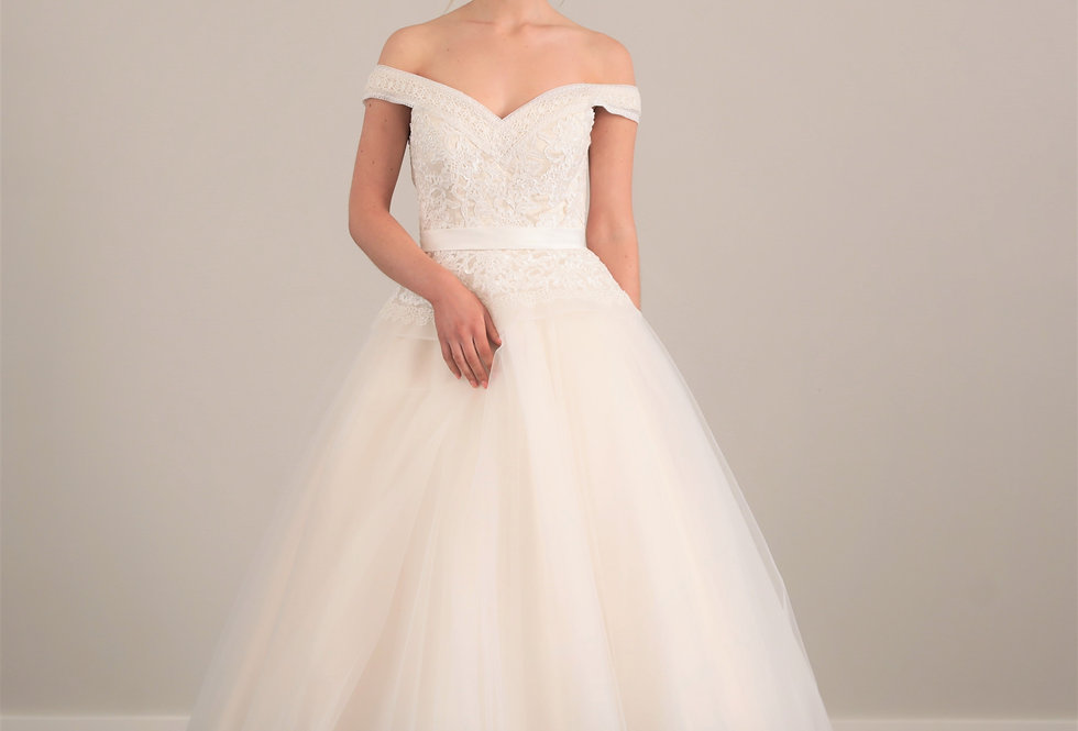 Olympia Tea Length Wedding Dress from French Knot Couture