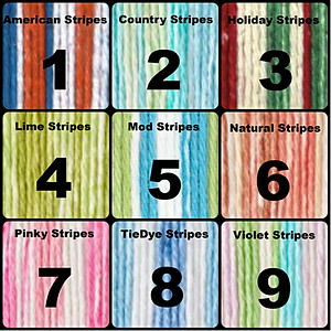 Cotton Yarn - Stripes