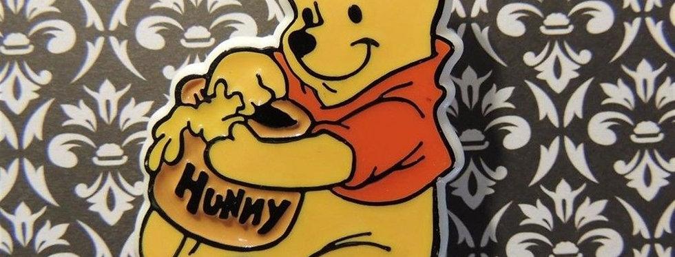 Walt Disney Winnie the Pooh Enamel on Plastic Pinback Pin