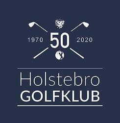 Holstebro Golfklub jubilæum logo