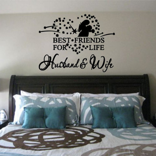 Best Friends For Life Wall Decal