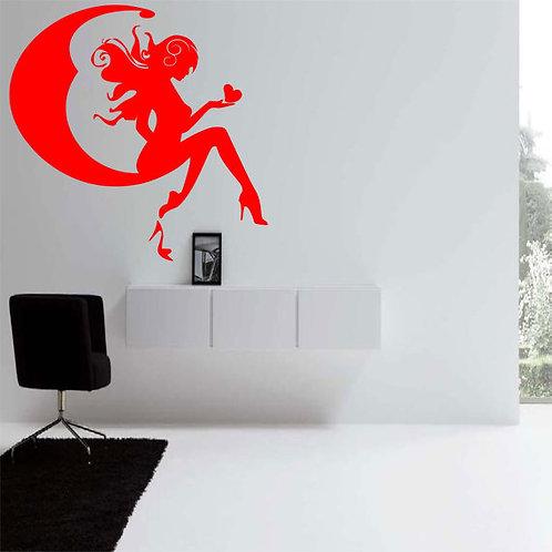 Fairy Girl Moonlight Wall Decal
