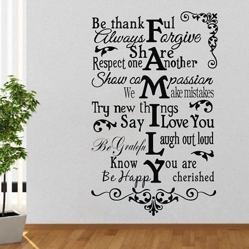 Be Thankful Always Forgive Wall Decal