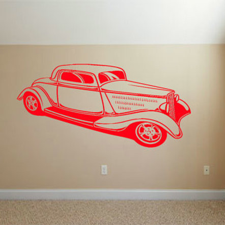 Hot Rod Wall Decal