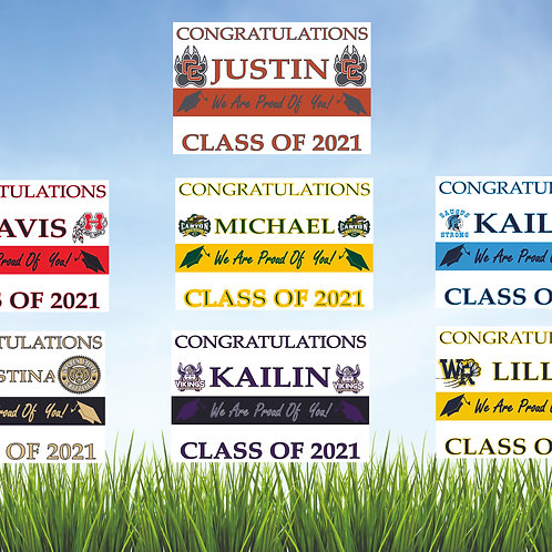 Class of 2021 yard signs.