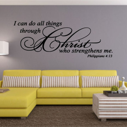 I Can Do All Things Through Christ Wall Decal