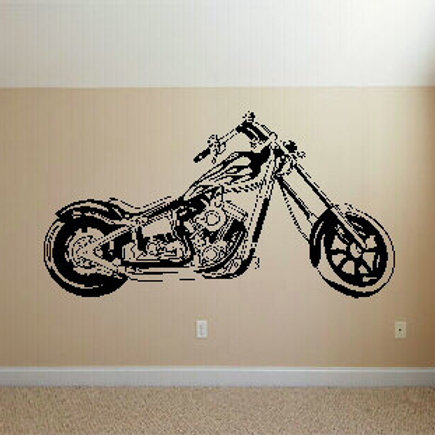 Chopper Bike Wall Decal