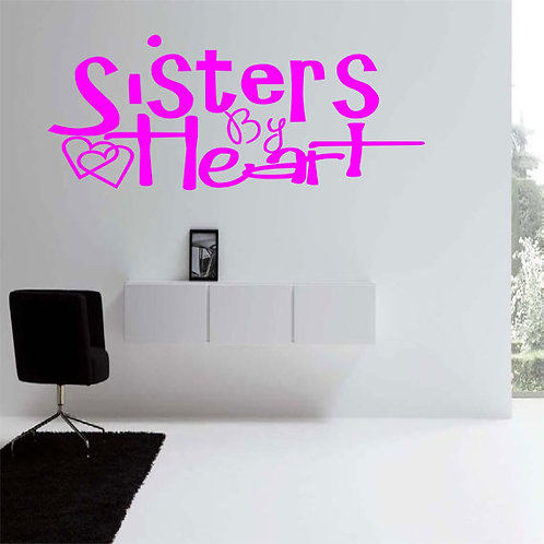 Sister by Heart Wall Decal