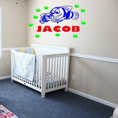 Finding Nemo with Custom Name Wall Decal