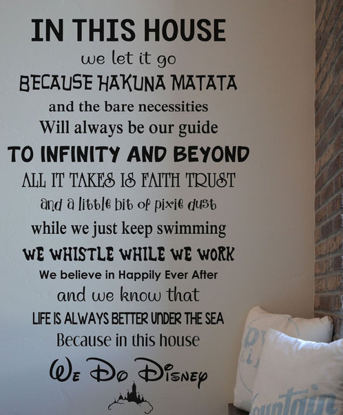 In This House We Do Disney Wall Decal