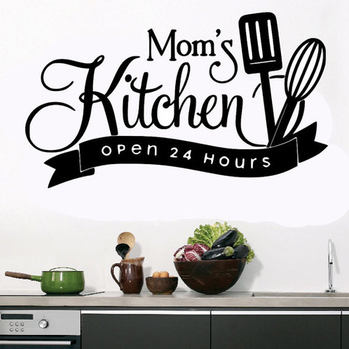 Mom\'s Kitchen Open 24 Hours Wall Decal | Decals | United States ...