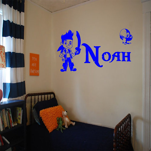 Jake & The Neverland Pirates With Custom Name Wall Decal