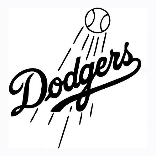 Los Angeles Dodgers Car Decal