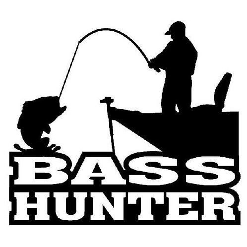 Bass Hunter Car Decal
