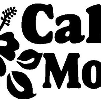 Cali Mom with a Hawaiian flower car decal