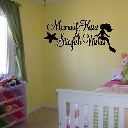 Mermaid Kisses Starfish & Wishes Wall Decal