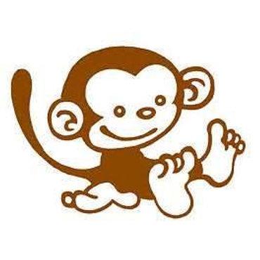 Monkey Decal Car