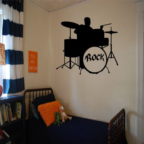 Drum Set Wall Decal