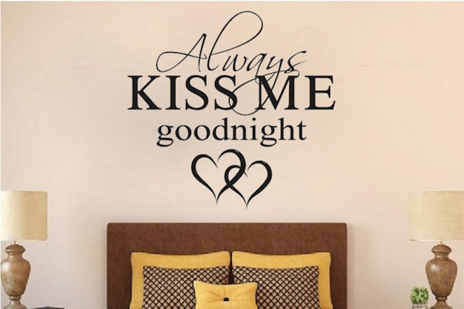 Always Kiss Me Goodnight Wall Decal Part 80