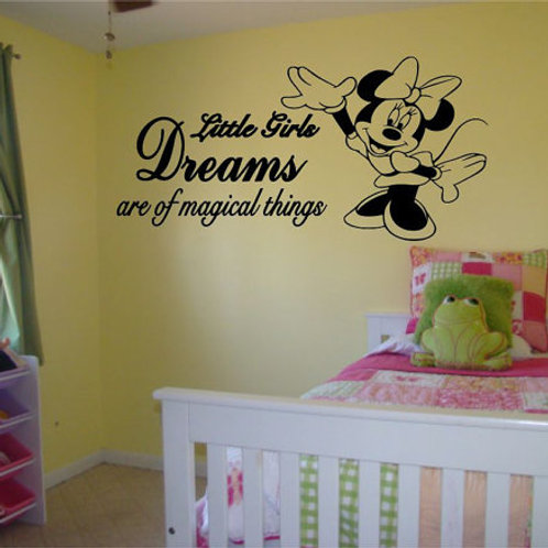 Little Girls Dreams Wall Decal