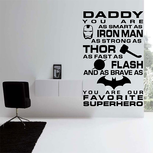 Daddy You Are As Smart As Ironman Wall Decal