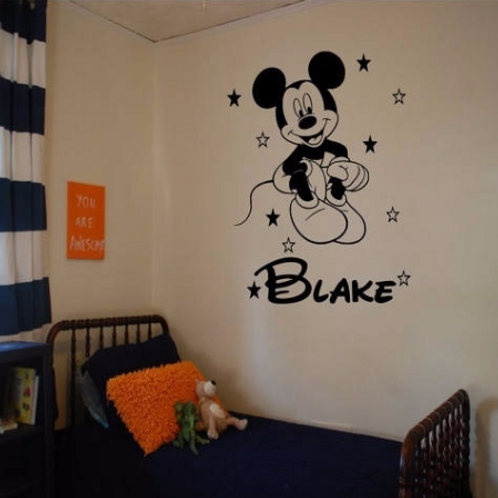 Mickey Mouse Personalized Wall Decal