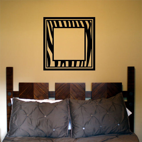 Zebra Frame Wall Decal