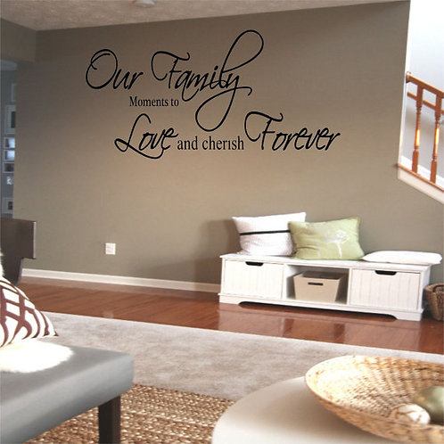 Our Family Moments Wall Decal