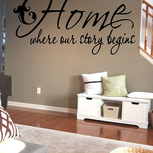 Home Where Our Story Begins Wall Decal