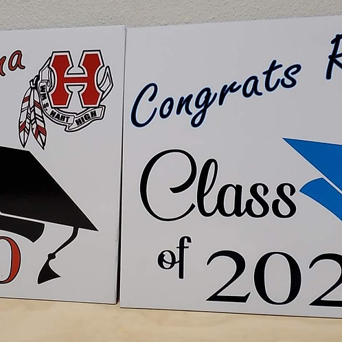 Class of 2020 yard signs.