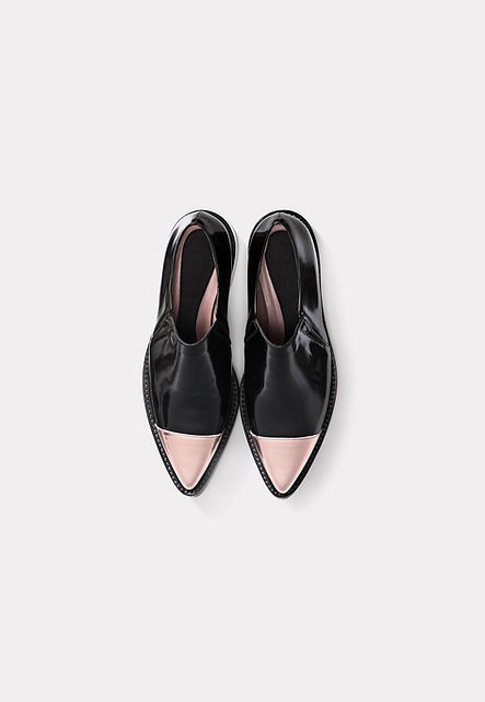 Pointed Black and Pink Shoes