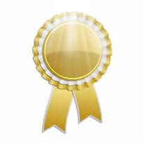 gold-award-rosette-ribbon-260nw-40049706