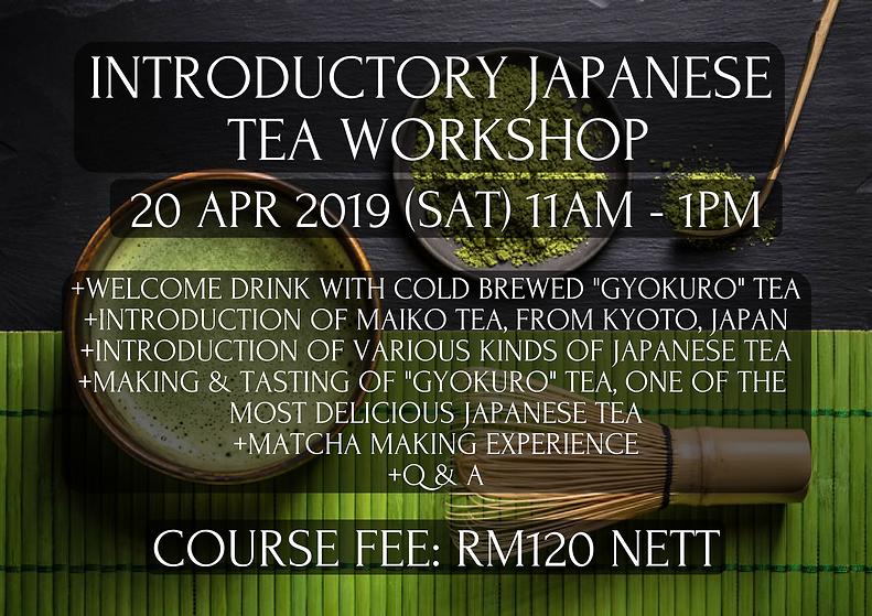 Introductory Japanese Tea Workshop 20 Ap