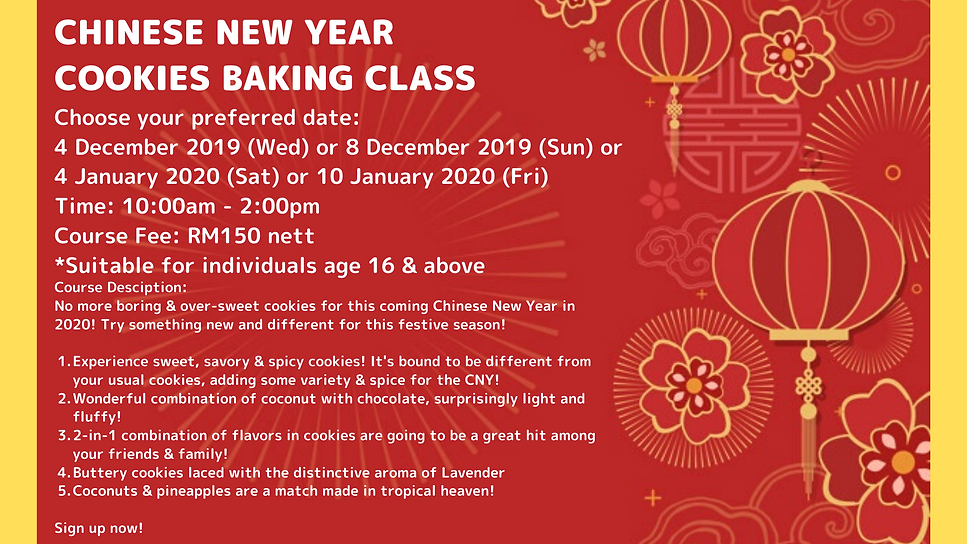 CHINESE NEW YEAR COOKIES BAKING CLASS (2