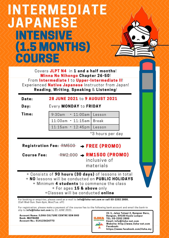 Japanese Intensive Beginner N4 Course (1