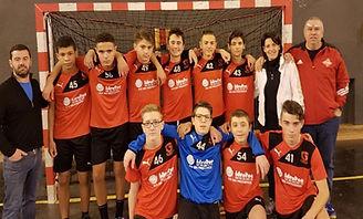 Gardanne Hanball, équipe U15 masculins, U15M