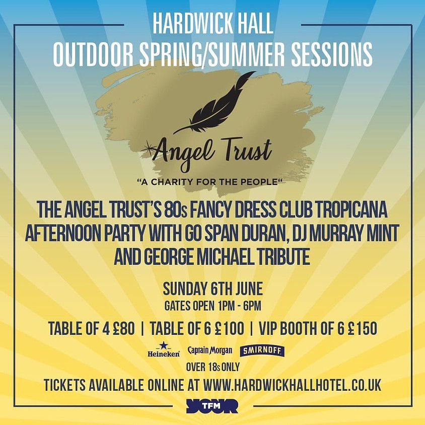 The Angel Trust's 80s Fancy Dress Club Tropicana Afternoon Party with Go Span Duran, DJ Murray Mint and George Michael