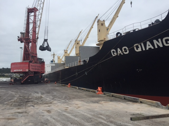 MV Gao Quing - Discharging in Foynes