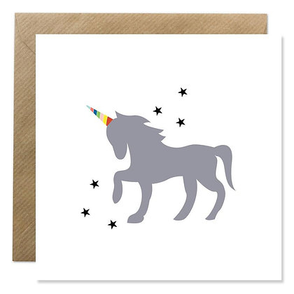 Card -  UNICORN & STARS