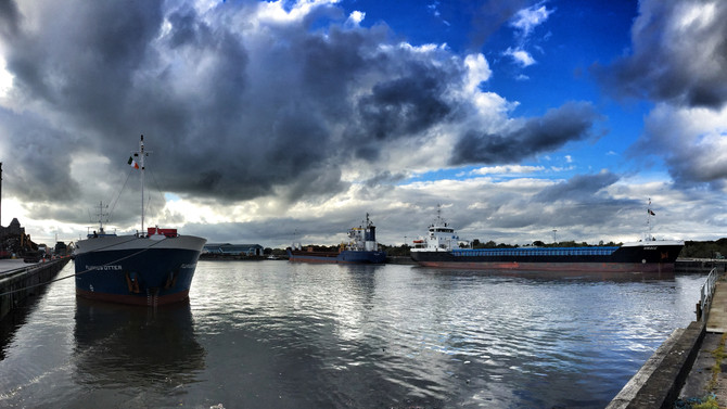 End of a busy week in Limerick Dock