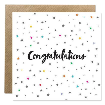 Card - Congratulations Stars