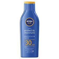 NIVEA SUN Suncream Lotion SPF 30, Protect & Moisture, 200ml