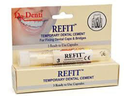 Dr Denti Refit: TEMPORARY CAP RE-FITTING CEMENT