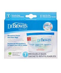 Dr Brown's Microwave Steriliser Bags 5Pk