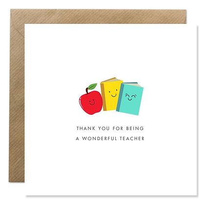 Card - Wonderful Teacher