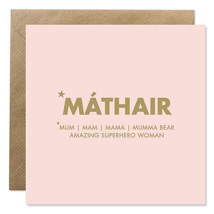 Card -  MÁTHAIR